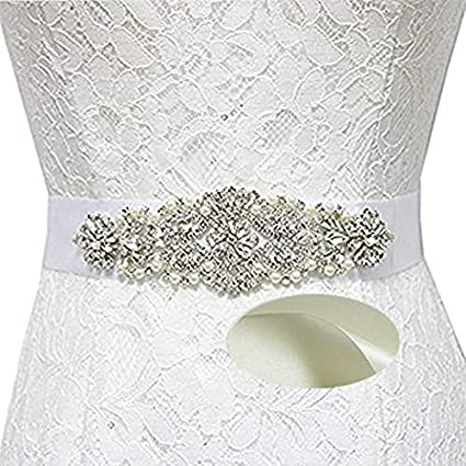 Amazon Com Shinyshine Ivory Bridal Sash Belt Bridal Shower