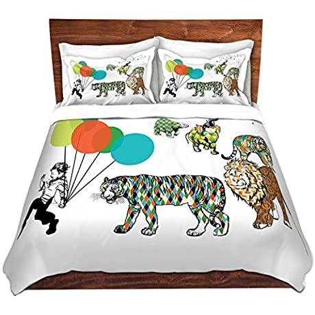 DiaNoche Designs Microfiber Duvet Covers Marci Cheary Animal Parade