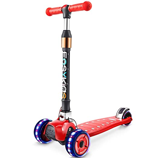 Scooter Patinete Plegable Ajustable para niños con 4 Ruedas ...