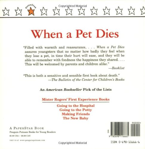 when a pet dies fred rogers 8601300374536 amazon com books