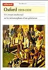 Oxford, 1919-1939. Un creuset intellectuel ou les métamorphoses d'une génération par Du Sorbier