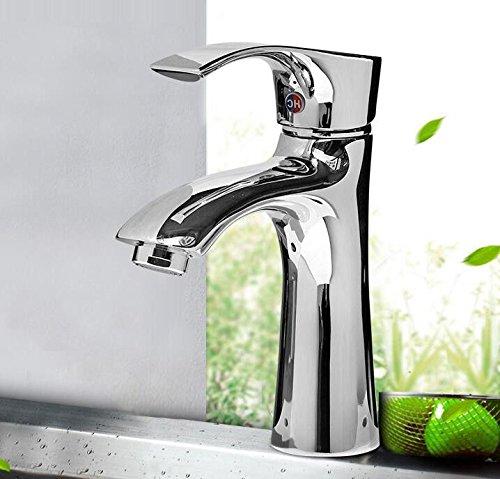AQiMM Wasserhahn Waschtisch Waschbecken Armatur Kaltes Wasser Einzelne Bohrung gemäßcht Water-Copper Versilbert  Waschtischarmatur Waschbeckenarmatur Badarmatur Für Badezimmer