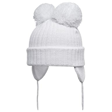 3d7f8a334b5 Satila of Sweden Minnie White Knitted Double Pom-Pom Hat  Amazon.co.uk   Clothing