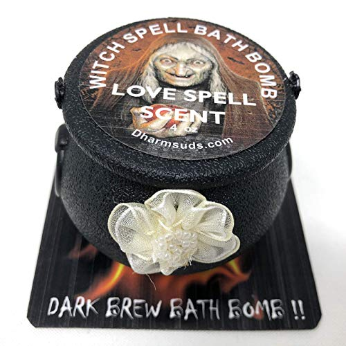 Halloween bath bomb cauldron 4 oz Witch spell dark brew collection -