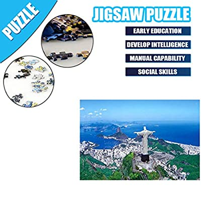Yukuai Yukuai Well-Known Building Landscape Jigsaw Puzzles 1000 Pieces for Adults Children's Puzzle Toy, Ancient Building Jigsaw Puzzle, DIY Collectibles Modern Home Decoration (Jesus Mountain): Toys & Games