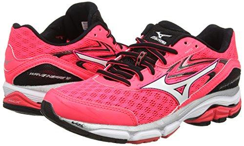 diva Wave Zapatillas white Para Pink De Rosa Mizuno Mujer black Inspire 12 Running Pink 4dYxvq