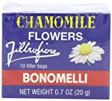 Bonomelli Chamomile Tea Bags, 10 Count Boxes (Pack of 48)