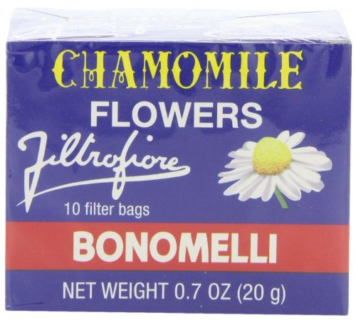 Bonomelli Chamomile Tea Bags, 10 Count Boxes (Pack of 48) by Bonomelli
