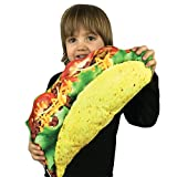 Taco Delicious Food Novelty Novelty Food Throw Pillows Lifelike Designs - Easy to Clean