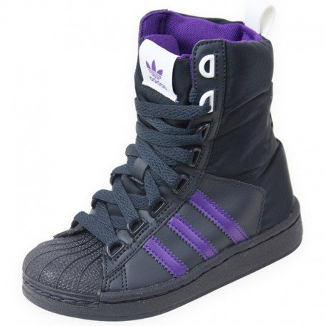 adidas Superstar Boot, Stivali Ragazza, Nero (Nero), 34