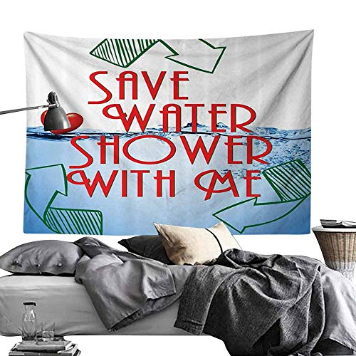 - Wall Tapestries Funny Sexy Invitation Save Water Shower with Me Sexy Decor Recycling Earth Lover Funny Heart Kinky Home Funny Couples Quote Adult Bedroom Home Decor W80 x L60 Red Blue Green White