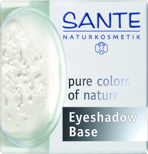 SANTE Naturkosmetik Eyeshadow Base Loose Powder, Pudrige Augengrundierung, Verbessert Haltbarkeit des Lidschattens, Vegan, 1g