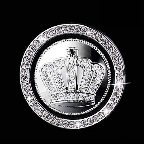 - Car Decor Crystal Rhinestone Ring,Car Bling Sticker Ring Emblem Ring Bling Car Accessories for Auto Start Engine Ignition Button Key & Knobs with Crown Car Emblem