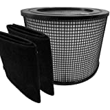 Premium Hepa Plus Filter + 2 Carbon Prefilter Wraps for Filter Queen Defender Air Purifier 4000 360 by Saras Vac Shack