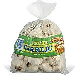Whole Fresh Garlic Bulbs 4 lbs (2 Bags of 2 lbs) Product of USA