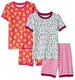 Amazon Essentials Girls' Snug-Fit Cotton Pajamas
