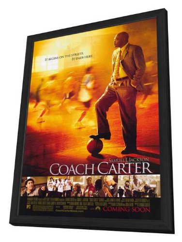Coach Carter - 11 x 17 Framed Movie Poster