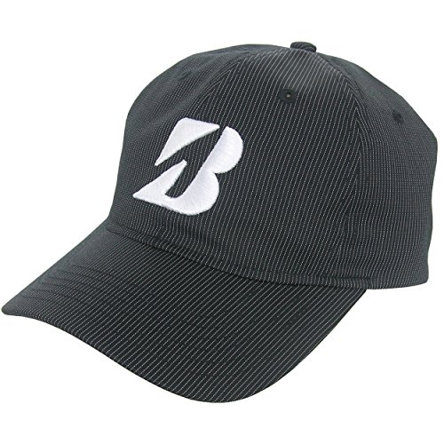 bridgestone-golf-pinstripe-adjustable-hat-black-white