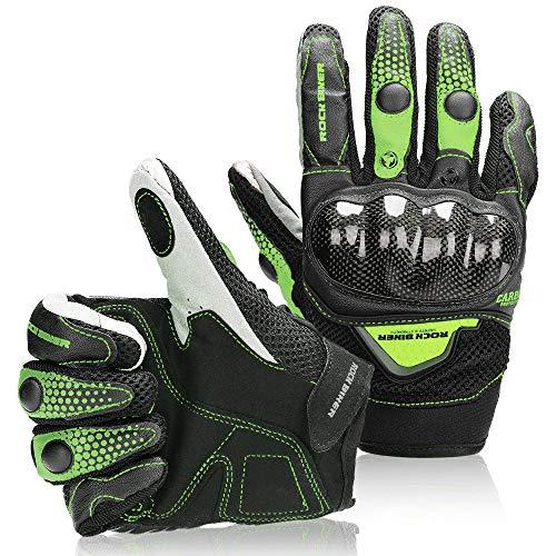 - Kemimoto Motorcycle Gloves Men Women Touchscreen Riding Full Finger for Motorcross Motorbike Racing Gloves Dirt Bike ATV UTV Cycling Outdoor Gloves L