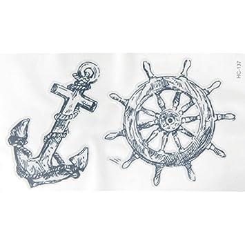 bb9a243c4c440 Amazon.com : Temporary Tattoo Stickers Womens Anchors Nautical Tattoo  Stickers Sailor Temporary Tattoos Waterproof Tattoo Sticker Fake Tattoos  Paste Neck ...