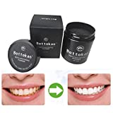 Carbon Organic Charcoal Natural Teeth Whitening Powder Polish (Black A)