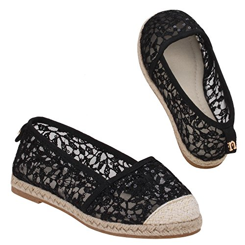 Girls Z Black shoes ballet Black 620 PPdqzr