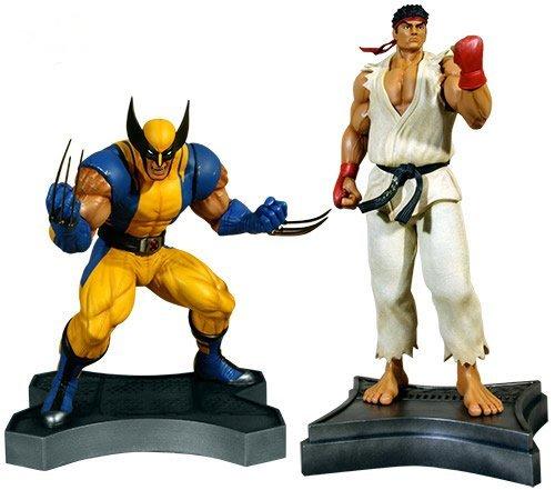 Wolverine Vs Ryu 1 3 Scale Statue Set