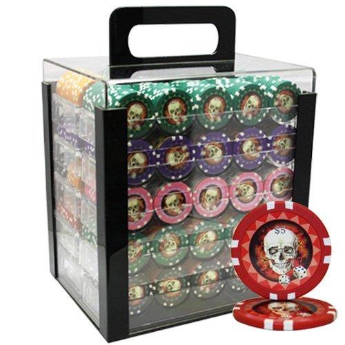 新しい1000pcs 13.5 G G Skull Poker 新しい1000pcs Poker Chipsセットアクリルケースカスタム構築 B00OPVT25Y, シルバーアクセサリー夢ロード:7fcd6ea0 --- itxassou.fr