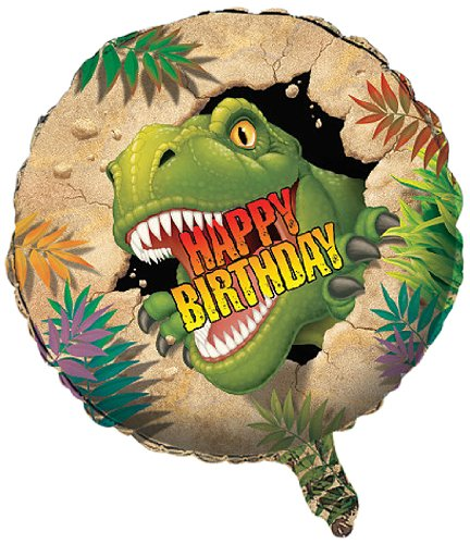 Creative Converting Dino Blast Metallic Balloon, 18-Inch - 045012]()