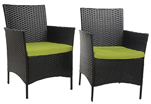 Merax 4 Piece Outdoor PE Rattan Wicker Sofa And Chairs Set Rattan Patio Garde