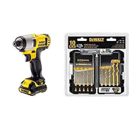 10 Piece Impact Ready Dd5160 Dewalt Titanium Drill Bit Set Power Drill Bits Tools Workshop Equipment