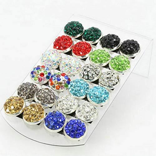 - Mikash 6/9/24 Fashion Rhinestone Crystal Pearl Earrings Set Women Ear Stud Jewelry Gift | Model JWRLBX - 1408 | 1 Pair Crystal #1