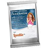 Lovellio Instant Fake Snow Powder/Makes 2 gallons of Artificial Fluffy Snow/Ideal for Xmas Decoration, Parties, Games/Ideal for Homemade Cloud Slime/Plus an Amazing Fruit Slime Giveaway.