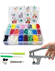 360sets 24 Colors T5 Plastic Snap Buttons Kit with Snap Pliers Tool for Sewing and Crafting (Organizer Storage Containers Included)