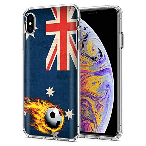 [Case86] [iPhone Max] 6.5in LCD | Gelflex Phone Case [Australia Flags Soccer Print] ()