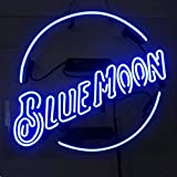 Blue Moon New Handcraft Real Glass Beer Bar Neon Signs 19x15