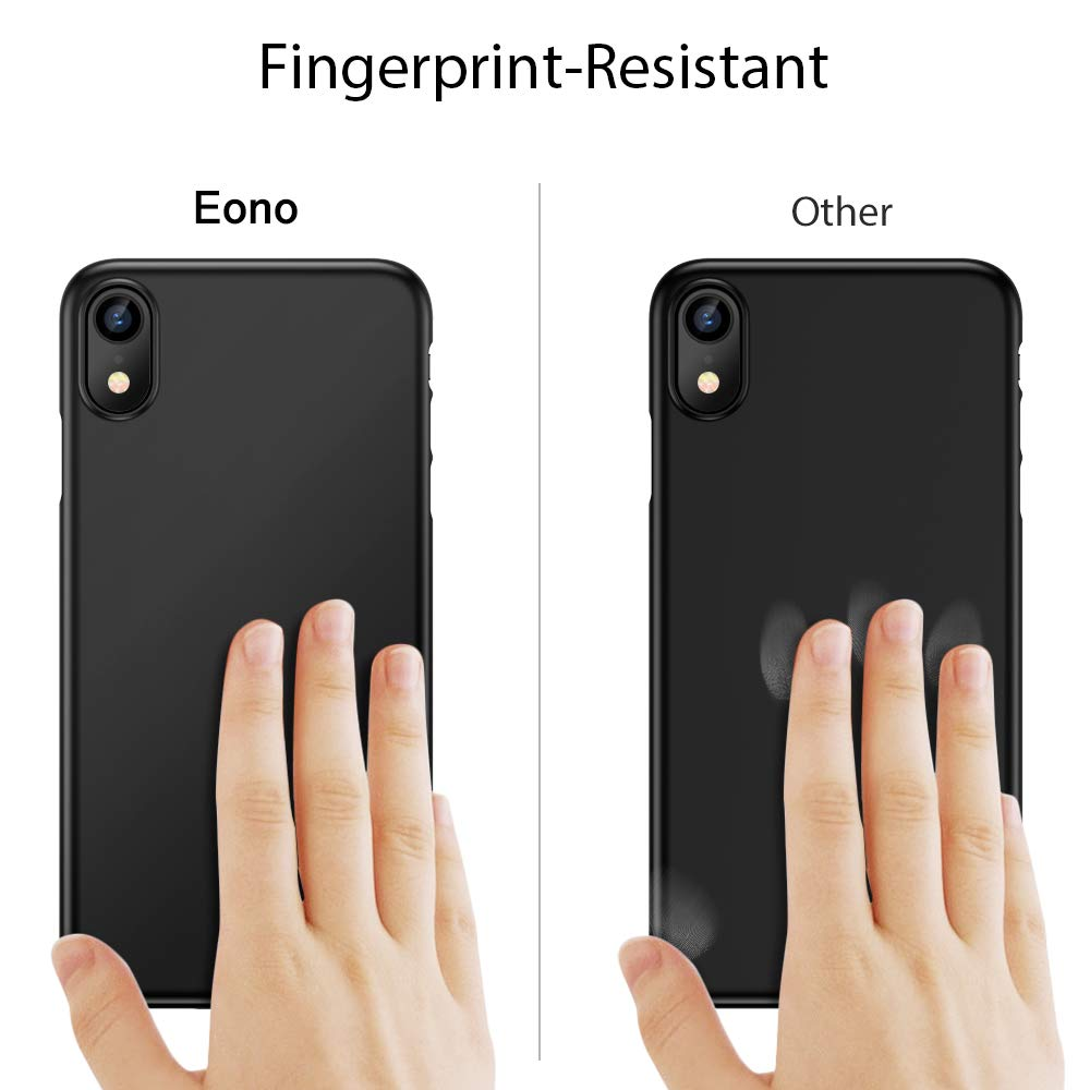 Ultra-Thin and Highly Protective Marka for the iPhone XR,black Eono Essentials iPhone XR Case,Slim Black Shock Absorption Hard TPU Cover Case