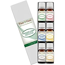 Weight loss set Essential Oil Variety set Kit - 6 Pack - 100% Pure Therapeutic Grade 10 ml. Set includes- (Peppermint, Grapefruit, Juniper Berry, Lemon, Ginger, Bergamot)