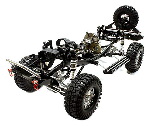 Integy RC Model Hop-ups C25310BLACKT1 V2 Billet Machined 1/10 Size TR310 Trail Roller 4WD Off-Road Scale Crawler ARTR