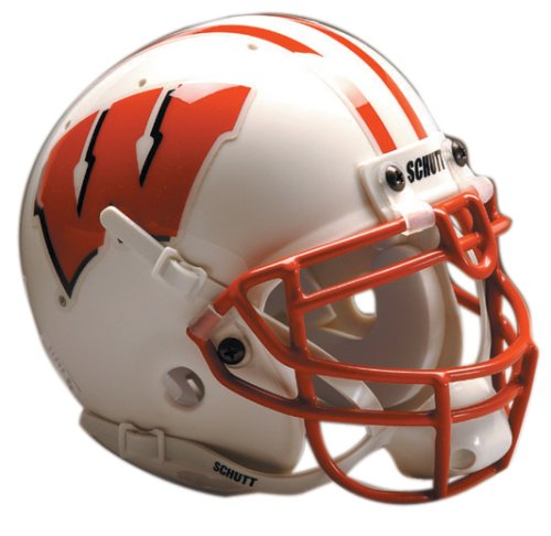 NCAA Wisconsin Collectible Mini Football Helmet (Badgers Helmet Wisconsin Team)