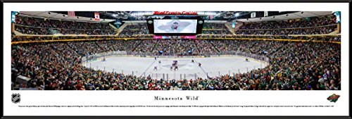 Nhl Club Collection (Minnesota Wild - Center Ice - Blakeway Panoramas NHL Posters with Standard Frame)
