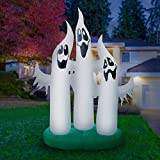 Holidayana Giant 10 Ft Airblown Inflatable Ghost Family - Inflatable Halloween Decoration with Super Bright Internal Lights, Built-in Fan & Anchor Ropes