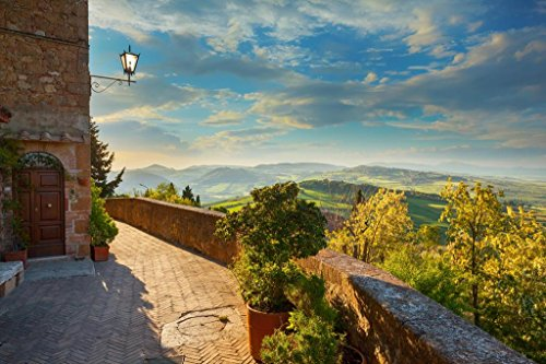 Landscape in Tuscany View from The Walls of Pienza Italy Photo Art Print Mural Giant Poster 54x36 inch