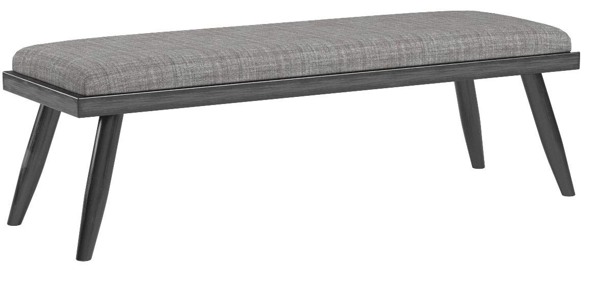 HOMES: Inside + Out IDF-3360BN Gray Lanza Mid-Century Modern Bench by HOMES: Inside + Out (Image #4)