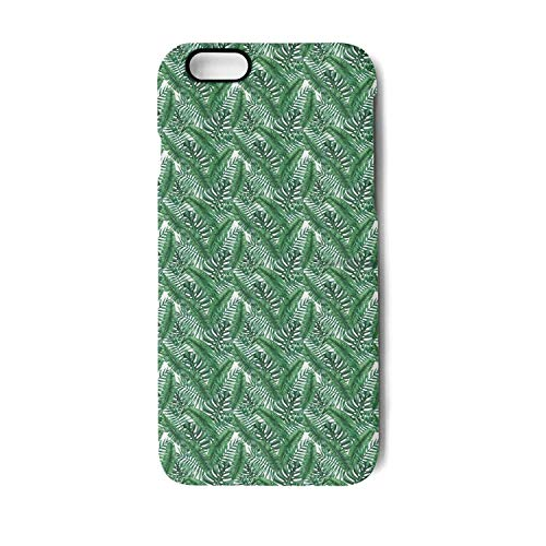 Phone case for iPhone 6/6s/6plus/6s plus/7/8/7plus/8plus Palm Sunday Palm Leaves Pattern Green Non-Slip Shock Absorption Hip Designer Hard TPU Cover