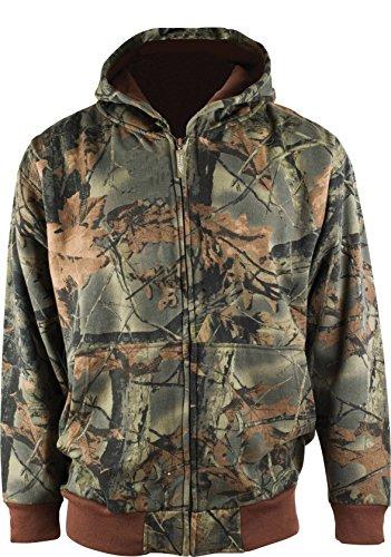 Trail Crest Boy's Camo Zip Full Zip Up Hooded Sweatshirt Hunting Jacket...
