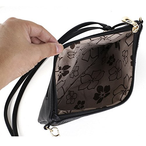 Meliya Flower Leather Bag Women's Shoulder Pu Envelope Black 00349 Handbag Evening Clutch Chain Bag Hollow Out Tote rR5rCqw