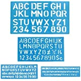 1 X Letter and Number Stencil Sets - Sizes 8, 10, 20, 30mm - Assorted Colors