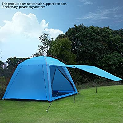 U-KISS 4 person Family Tent Sun Shelter Tent Portable Waterproof Breathable Anti-mosquito Beach Tent Lightweight Sun Shelter Cabana