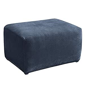 Fabulous Surefit Stretch Pique Oversized Ottoman Slipcover Navy Caraccident5 Cool Chair Designs And Ideas Caraccident5Info